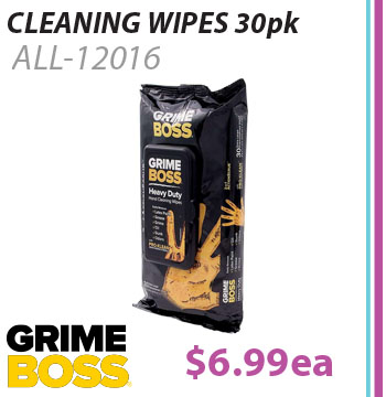 Grime Boss Cleaning Wipes 30 Pack