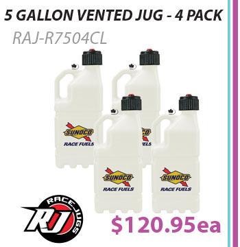 Sunoco Race Jug 5 Gallon 4 Pack