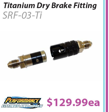 Titanium Dry Break Brake Fitting -3an